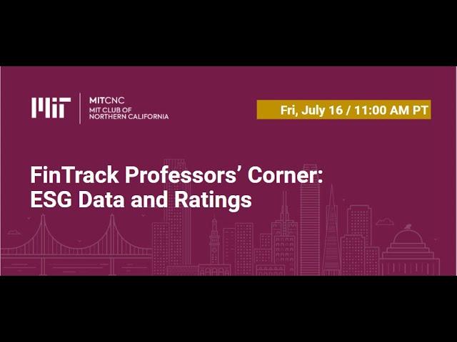 FinTrack Professors' Corner: ESG Data and Ratings