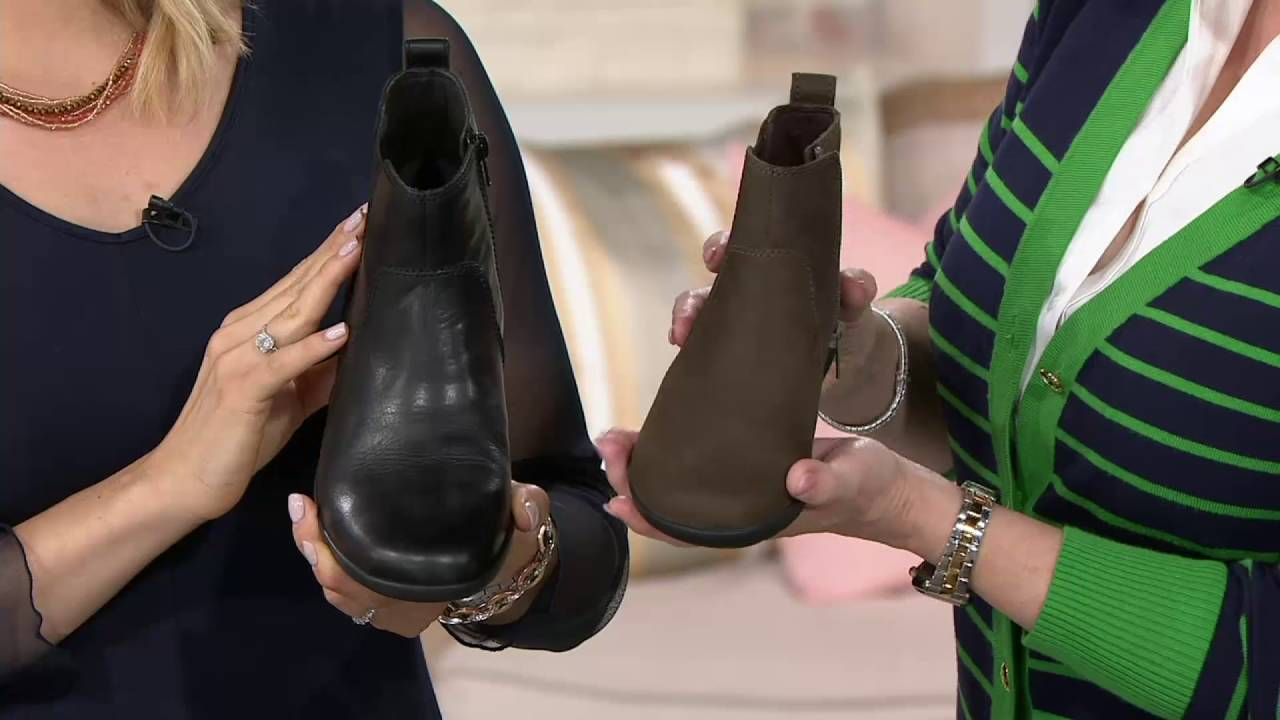 7e9322b8e0508 Clarks Collection Nubuck Leather Chelsea Boots - Medora Grace on QVC ...
