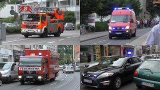 Großbrand in Köln-Zollstock - Einsatzfahrten Berufs- und Freiwillige Feuerwehr