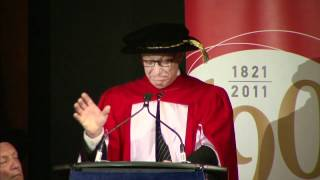 Max R. van Egmond, DMus - McGill 2012 Honorary Doctorate address