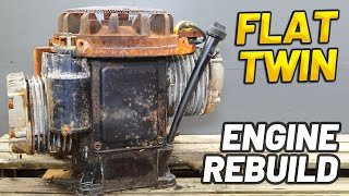 RUSTY OLD FLAT TWIN ENGINE RESTORATION