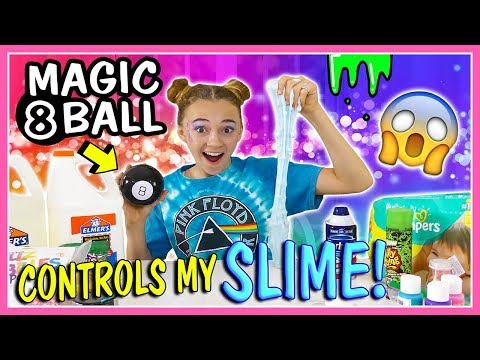MAGIC 8 BALL CONTROLS MY SLIME | Kayla Davis