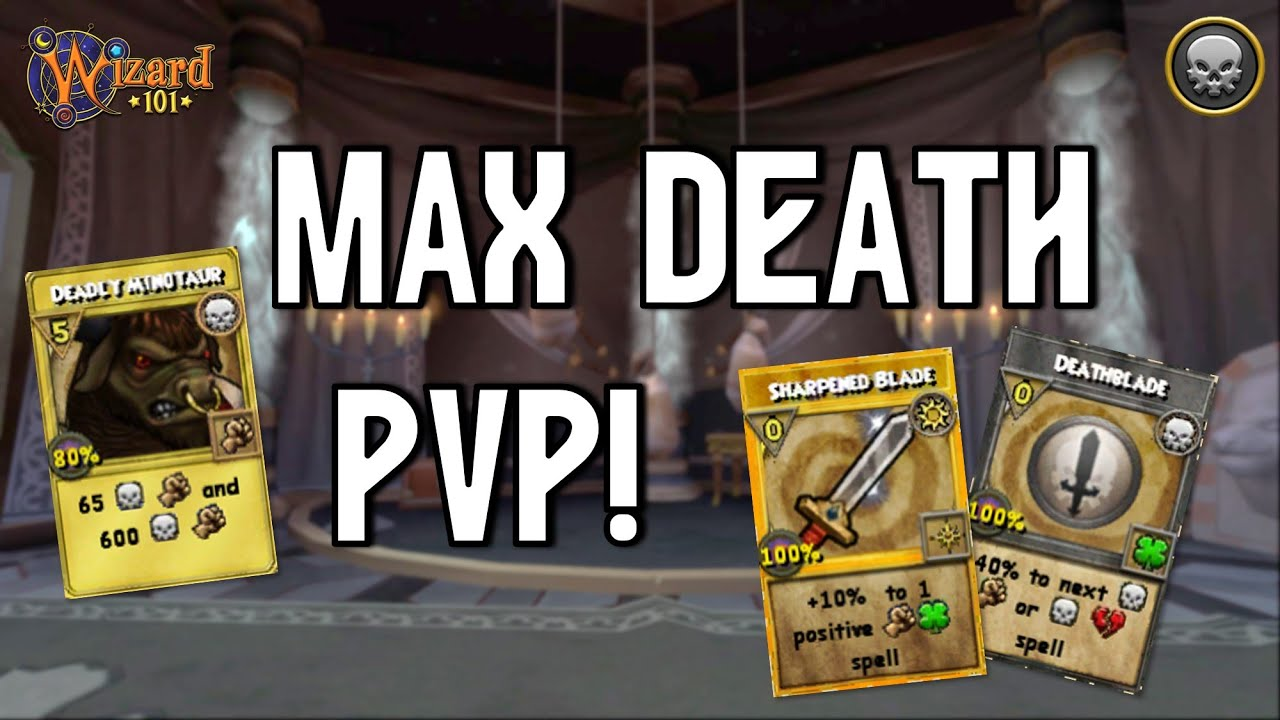 WIZARD101 MAX DEATH PvP (130): The 25HP CLUTCH!