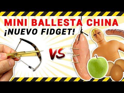 EXPERIMENTO con Nuevo Fidget MINI BALLESTA China de Juguete