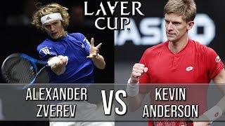 Alexander Zverev Vs Kevin Anderson - Laver Cup 2018 (Highlights HD)