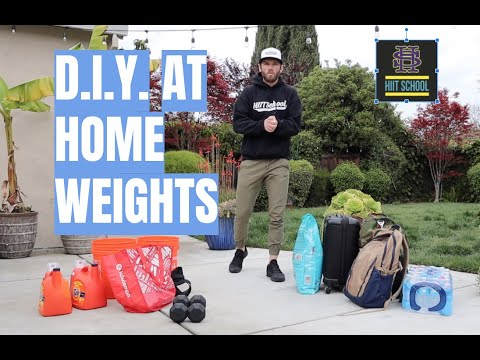 DIY At Home Workout Weight Options - HIIT School