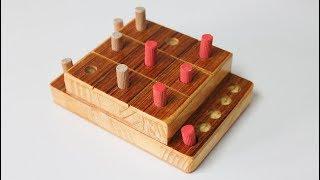 DIY Tic Tac Toe Game - Homemade Board Games
