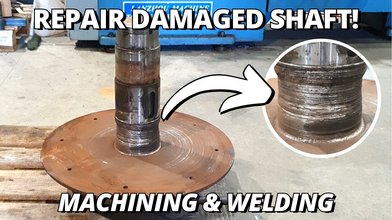 Repair DAMAGED Cardboard Compacting Auger drive shaft | Machining & Welding