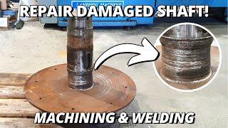 Repair DAMAGED Cardboard Compacting Auger drive shaft   Machining & Welding