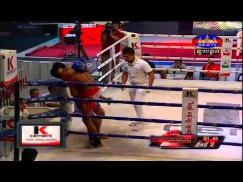 Khmer Boxing, Seng Narak Vs Puth Chhayrithy, Seatv Boxing, 25 April 2015