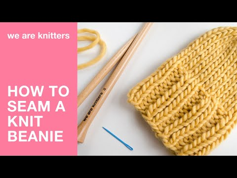 How to finish off a beanie | We Are Knitters