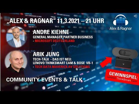 11.03.2021 Alex & Ragnar Show mit André Kiehne, Microsoft Deutschland, und Arik Jung zu Bose VB-1