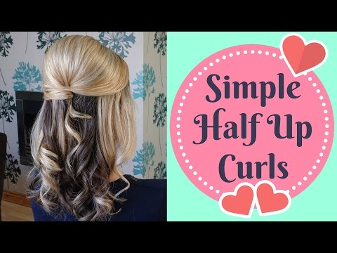 Quick Half up Half Down curly updo - prom, wedding hairstyle