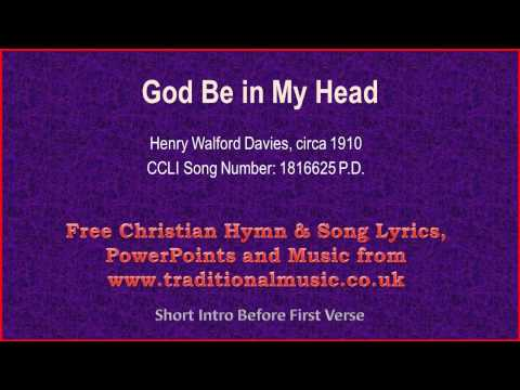 God Be In My Head - Hymn Lyrics & Music