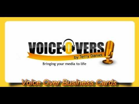 Voice over business cards youtube colourmoves