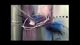 Abstract painting in acrylics / Demonstration /