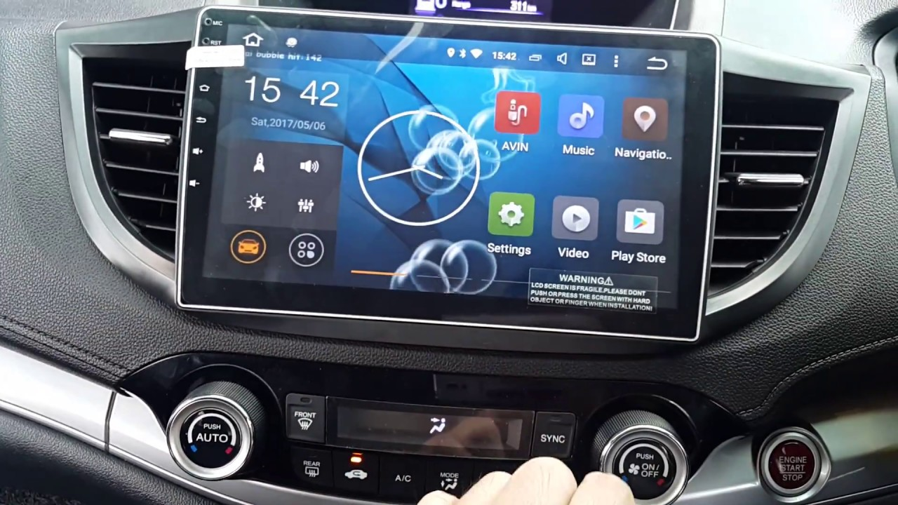 Honda CRV 2013-17 Convex 10.1in Android Master GPS OEM Player - Plug and Play - YouTube