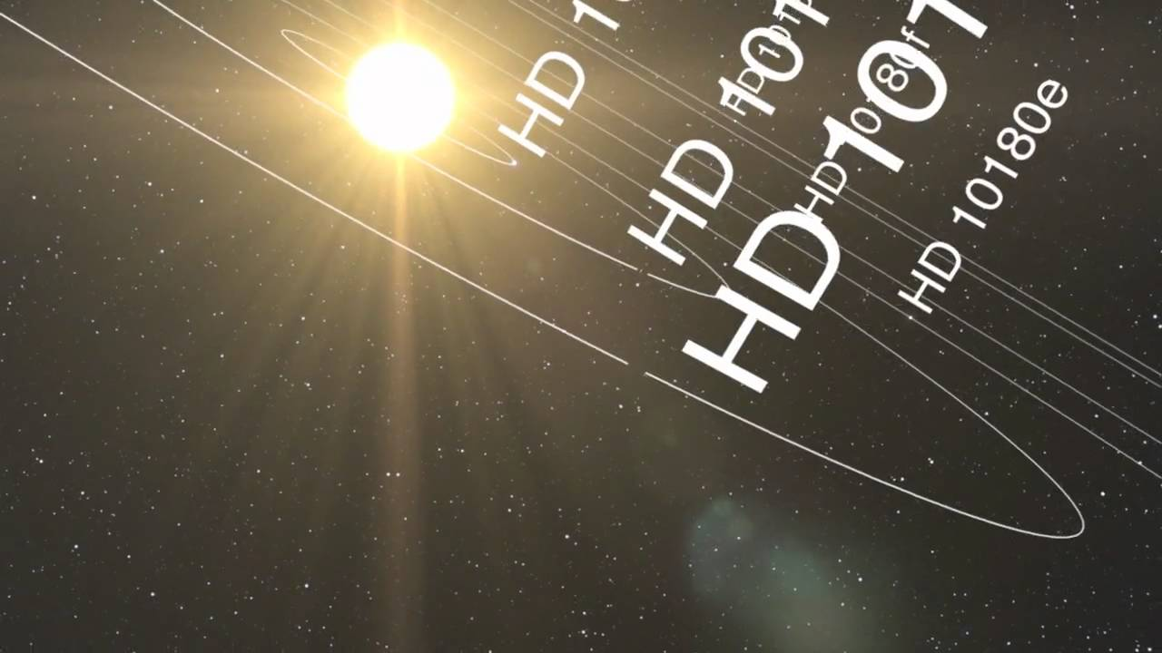 Animation of the planetary system around Sun-like star HD 10180