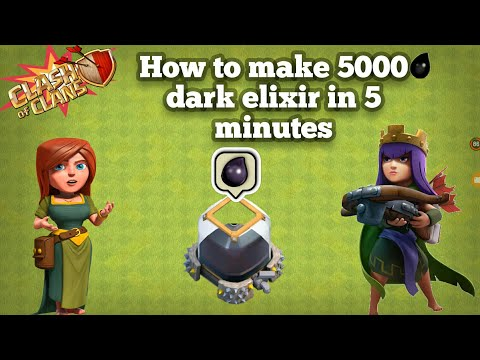 How To Make 5000 Dark Elixir In 5 Minutes In 2018 | Without King | Clash Of clans