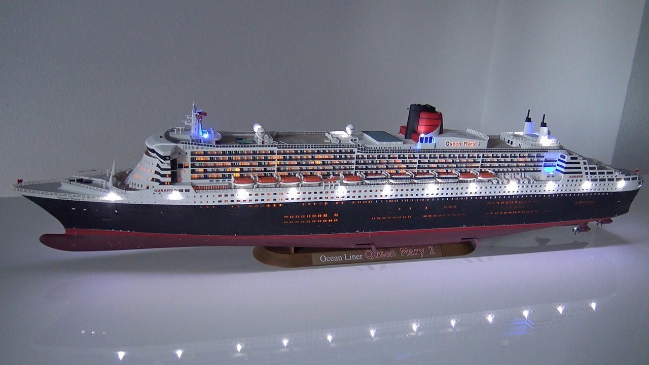 Queen mary 2 revell 1 400 led build story youtube for Garderobe queen mary 2