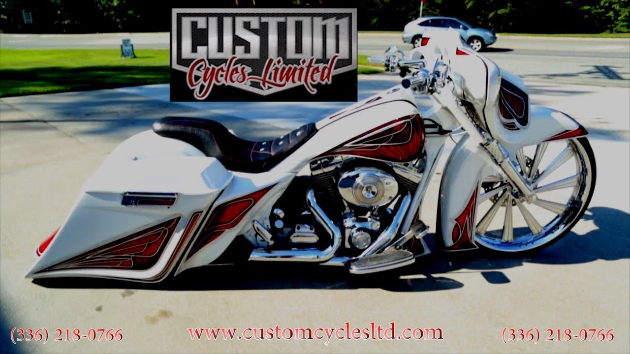 Custom Cycles LTD Bunch\'s Lay frame 26 inch big wheel street glide ...