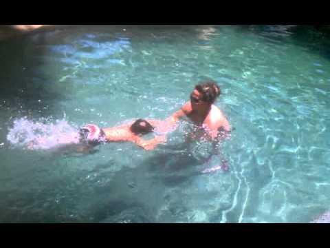 706b21249 Dallas Swim Lady- 3 Yr. Old, 1st Lesson - YouTube