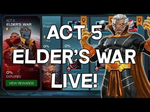 Act 5 Elder's War Progression LIVE - Marvel Contest Of Champions