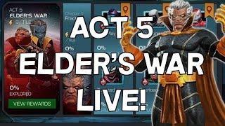 Act 5 Elder's War Progression LIVE - Marvel Contest Of Champions