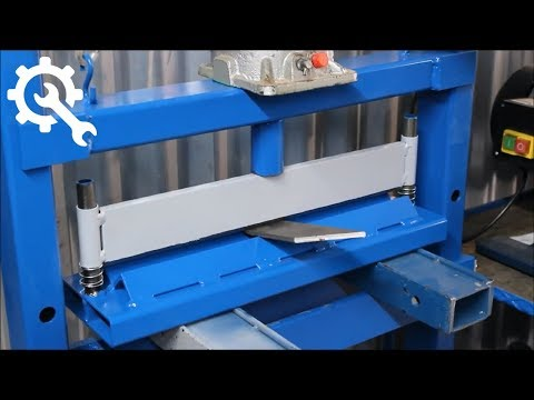 how to make a homemade press brake for metal