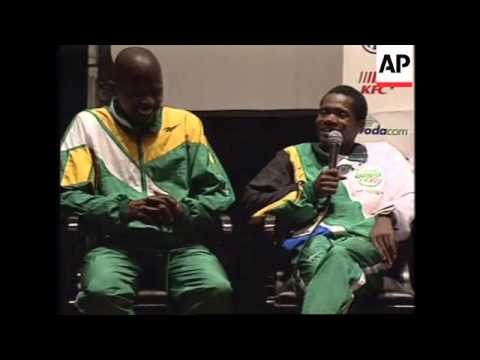 USA: ATLANTA: BLACK SOUTH AFRICAN WINS OLYMPIC GOLD MEDAL UPDATE