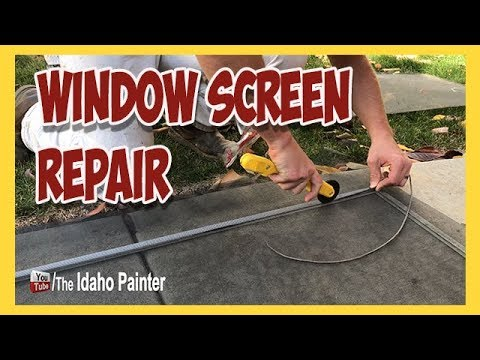 Window Screen Repair Tips.  How To Re-screen A Window.