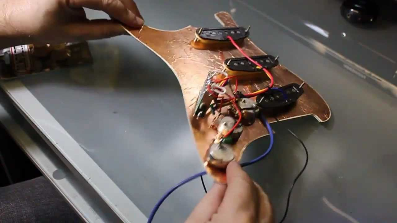 strat wiring diagram 3 way switch coil ignition a fender stratocaster fitting pickups and volume tone controls youtube