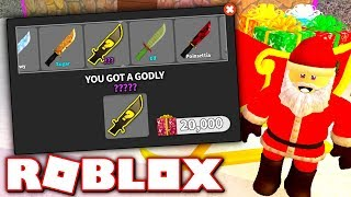 UNBOXING 20,000 GIFTS FOR THE CHRISTMAS UPDATE!! (Roblox Murder Mystery X)