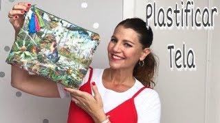 DIY Como PLASTIFICAR TELA en casa fácil y cómo hacer un neceser plastificado/ Plastic bag