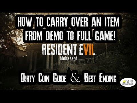 Resident Evil 7: Unlock Item for Full Game! Dirty Coin guide! (1080p 60fps)