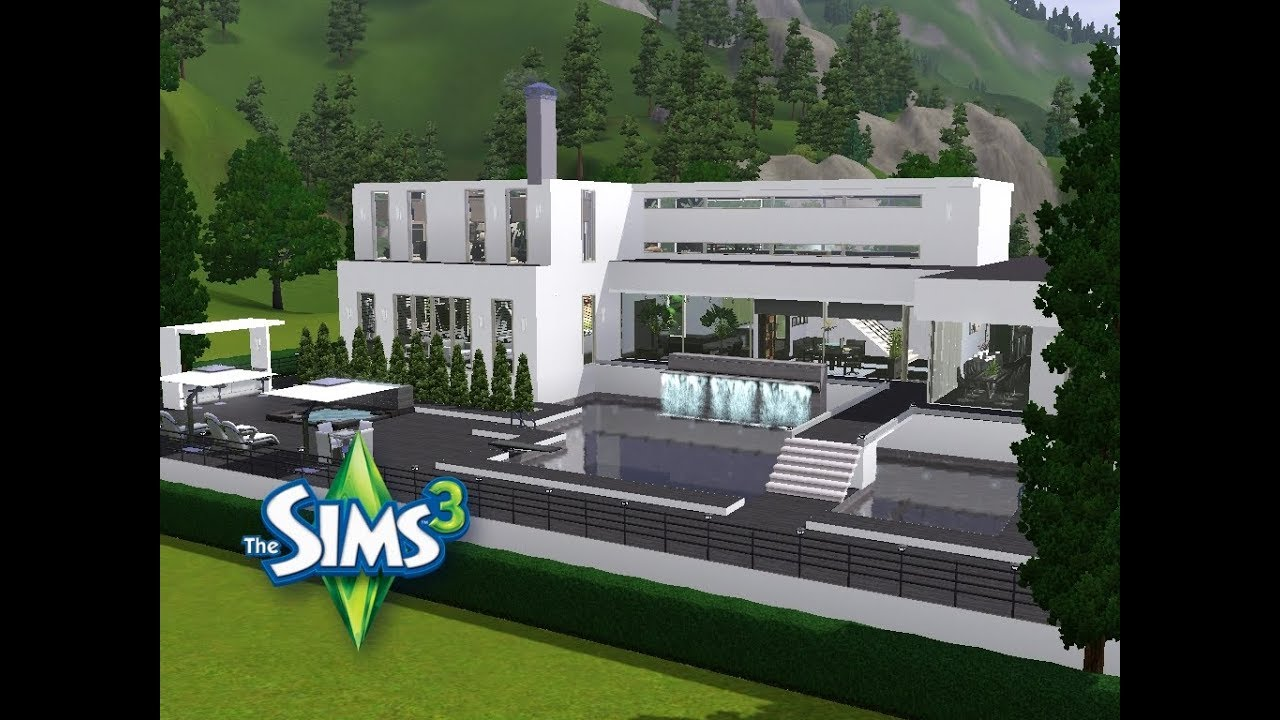 sims 3 haus bauen let 39 s build schickes haus am ende der stra e youtube. Black Bedroom Furniture Sets. Home Design Ideas