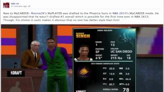 NBA 2k13 MyCAREER News | First Screenshot | MyPlayer Can Get Drafted #1 Overall | PIMP Suit