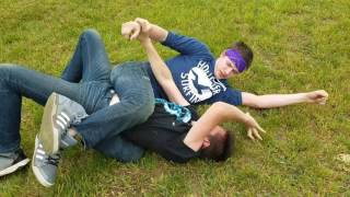 Wrestling in the yard