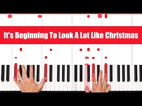 It's Beginning To Look A Lot Like Christmas Piano Tutorial - CHORDS