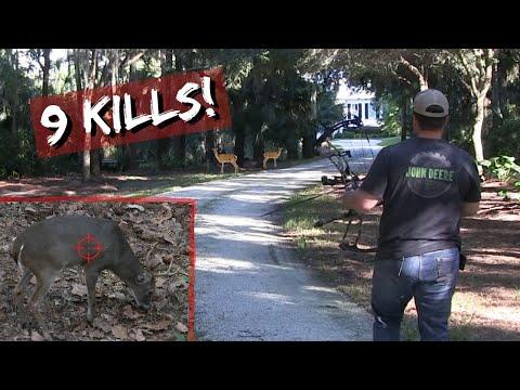 Deer Hunting the Neighborhood (9  Bow Kills) *Savannah