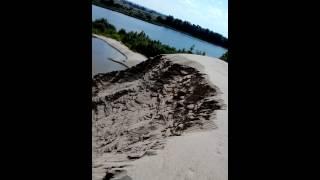 река Самара. кировский мост.намытый песок.(, 2015-07-06T13:53:47.000Z)