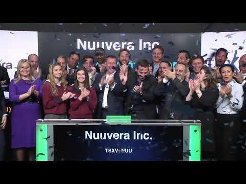 Nuuvera Inc. Opens Toronto Stock Exchange, January 10, 2018