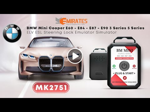 BMW 320D 2006 ELV ESL Steering Lock Emulator Plug And Start
