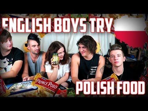 ENGLISH BOYS TRY POLISH FOOD