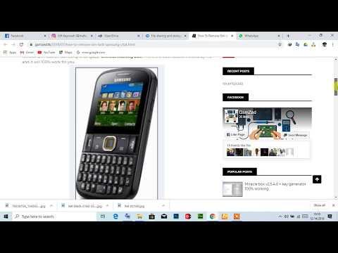 Remove Sim-lock Samsung Chat E2222 - Chat@222 Without Flashing Box