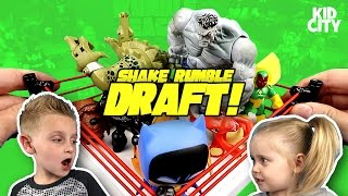 Kids Play Shake Rumble Draft! Spiderman Toys, Batman, Avengers & Pokemon by KIDCITY