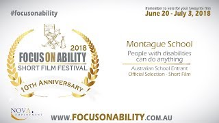 Montague School - People with disabilities can do anything