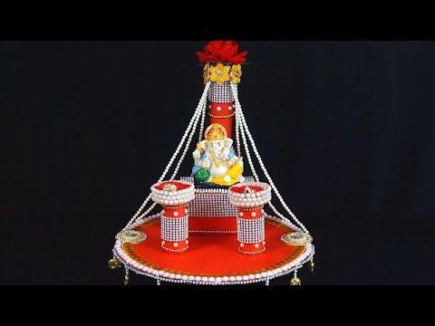 Ganpati Decoration Ideas for Home | Ganesh Chaturthi | Engagement Ganpati Decoration Ideas at Home