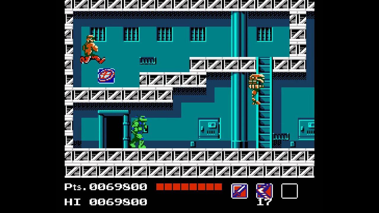 Teenage Mutant Ninja Turtles retro game