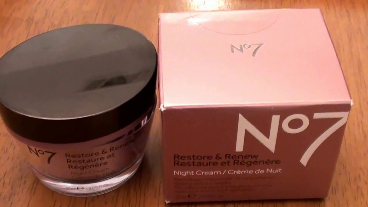 BOOTS No7 Restore and Renew Night Cream -REVIEW